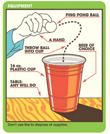 How to play beer pong retro style