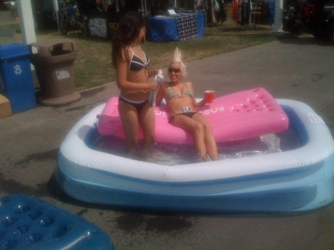 Pool Pong in the Kiddie Pool