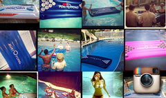 pool pong rafts for pool parties on instagram