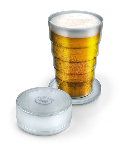 Fred & Friends PORT-A-PINT Collapsible Beer Glass, Clear