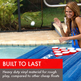 PORTOPONG, 6FT Inflatable Beer Pong Table Float - BLUE - portOpong