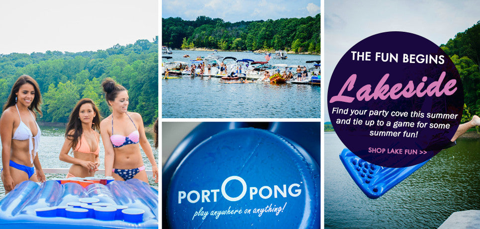 Lakeside Fun with Floating Beer Pong Tables For Your Boat