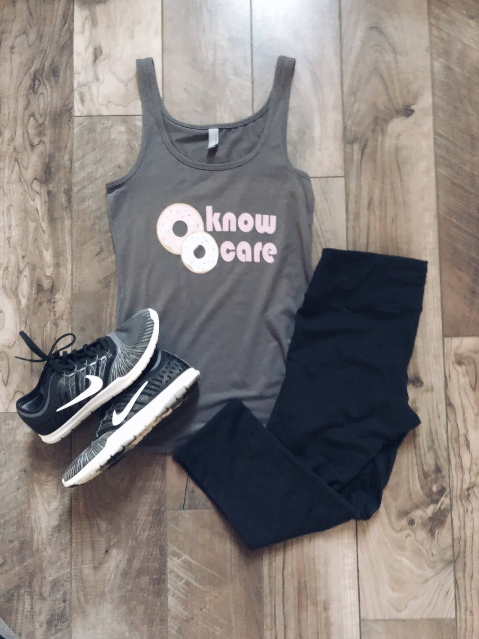Donut Know Donut Care Women's Fitted Tank