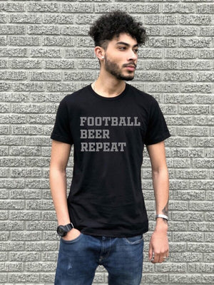 Football Beer Repeat Tee