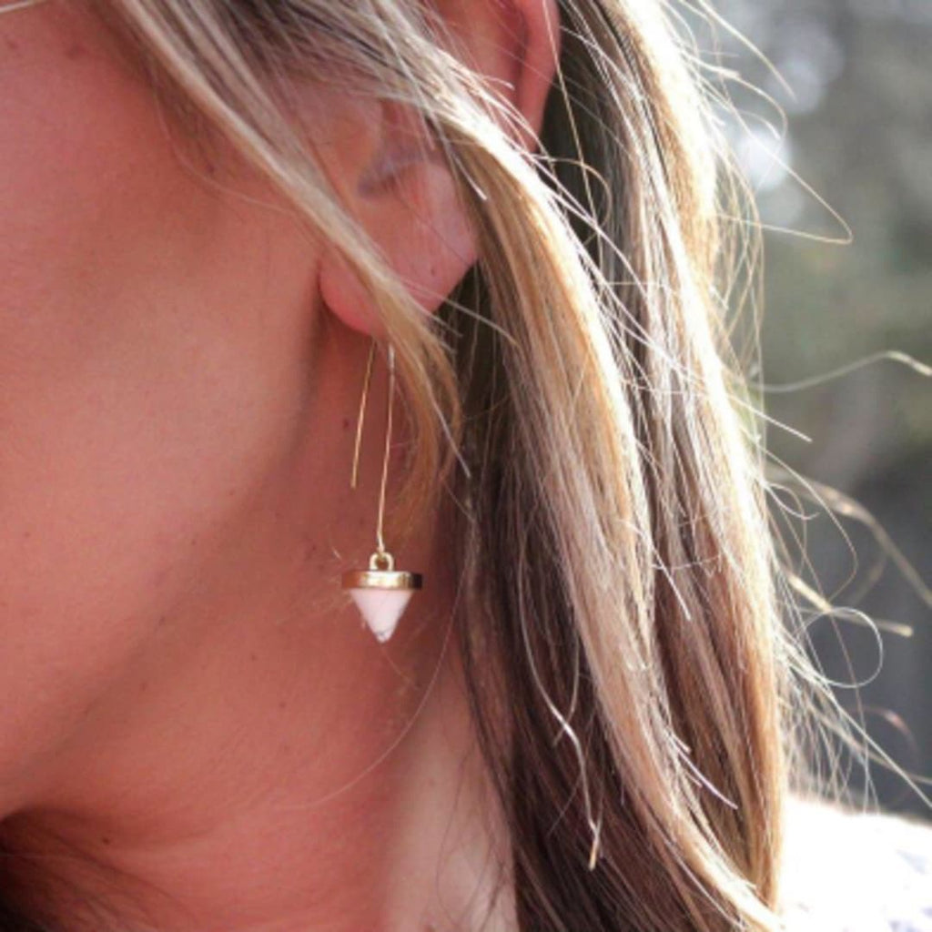 White Dangle Earring