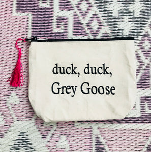 Duck, Duck, Grey Goose Canvas Bag