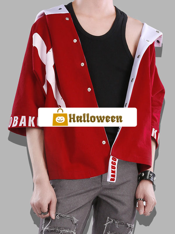 Halloween Boku No Hero Academia Bnha Bakugou Katsuki Cool Cosplay Coat Magazine Version