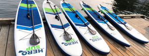 2021 Hero SUP inflatable paddle board range