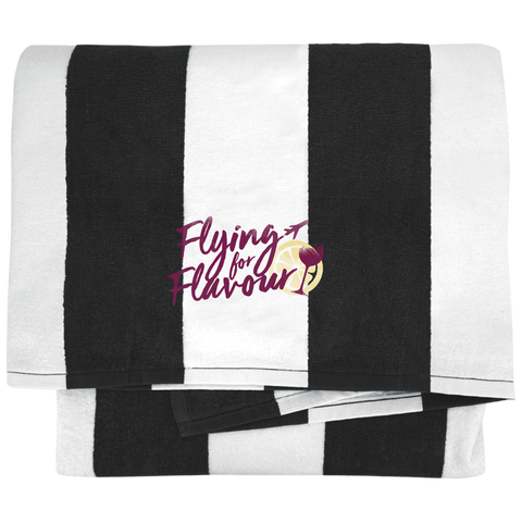 FFF Logo Port & Company Cabana Stripe Beach Towel