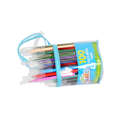 WHSmith Fibre Tip Colouring Pens Assorted Ink (Pack of 100)