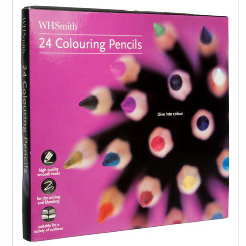 WHSmith Colouring Pencils (Pack of 24)