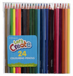 WHSmith Assorted Colouring Pencils (Pack of 24)
