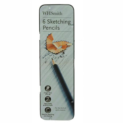 WHSmith Sketching Assorted Pencils (Pack of 6)