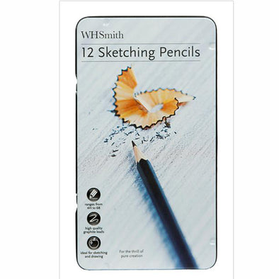 WHSmith Sketching Pencils (Pack of 12)