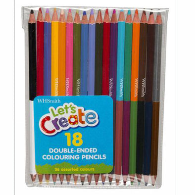 WHSmith Double-ended Colouring Pencils (Pack of 18)