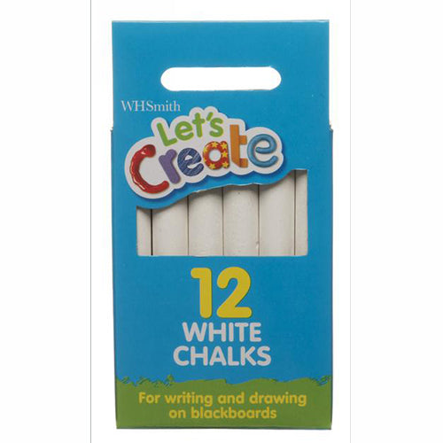 WHSmith Let's Create White Chalks (Pack of 12)