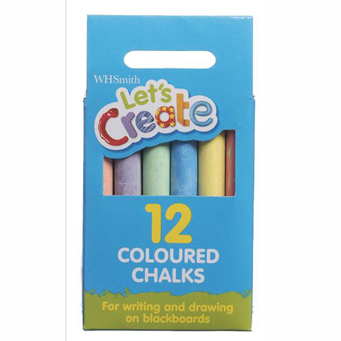 WHSmith Multi Chalks (Pack of 12)
