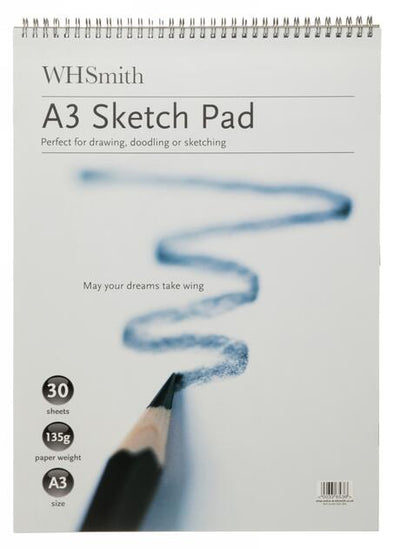 WHSmith A3 Sketch Pad 30 Sheets