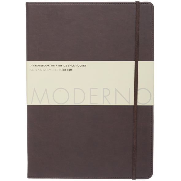 Moderno Chocolate Leather Effect A4 Notebook Journal