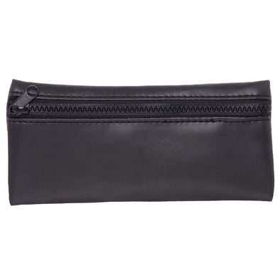 WHSmith Moderno Black Padded Flat Pencil Case