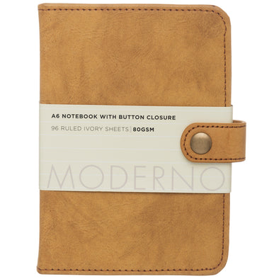 Moderno Tan Leather Effect A6 Notebook