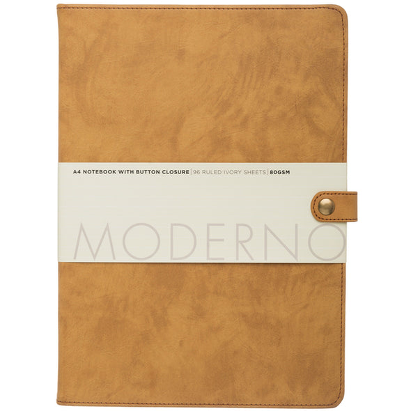 Moderno Tan Leather Effect A4 Notebook Journal
