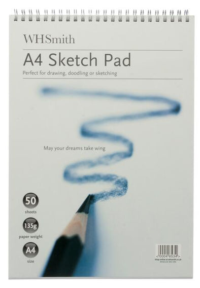 WHSmith A4 Sketch Pad 50 Sheets