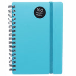 WHSmith Blue Polypro Wiro Bound A6 Notebook
