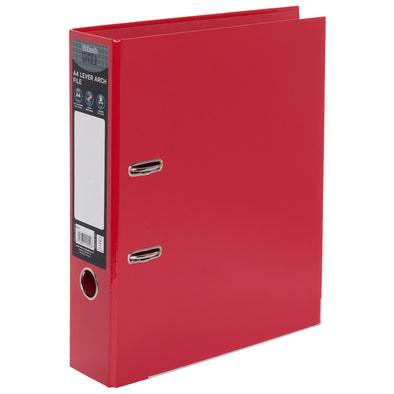 WHSmith Red A4 Board Lever Arch File
