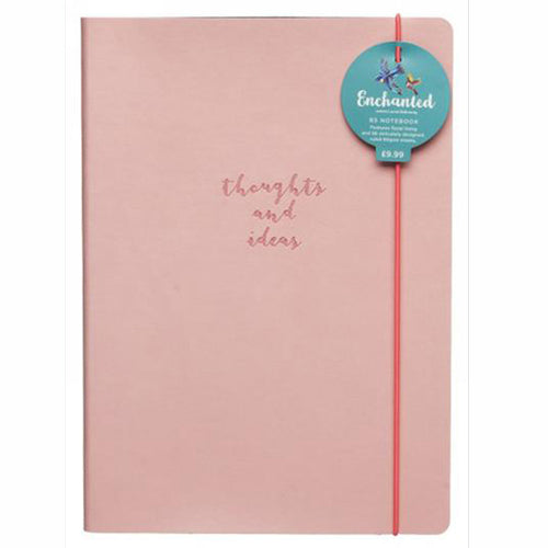 WHSmith Enchanted Soft Pink Thoughts and Ideas B5 Notebook Journal