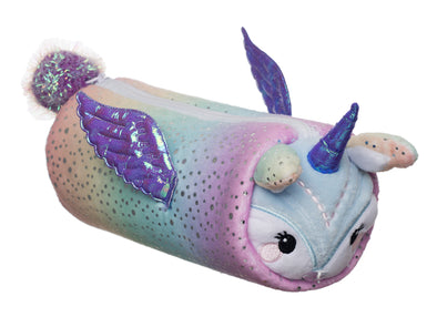 WHSmith Plush Unicorn Barrel Pencil Case