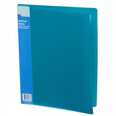 WHSmith Assorted Colour 30 pocket A4 Polypro Display Book