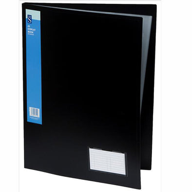 WHSmith Black A3 Polypro Display Book