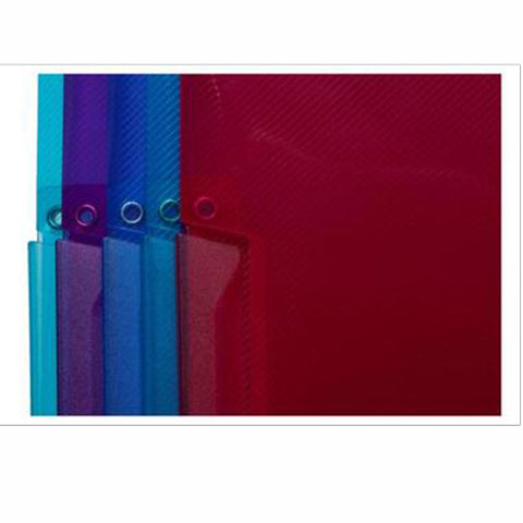 WHSmith Assorted Colour A4 Polypro Swing Clip Files (Pack of 5)