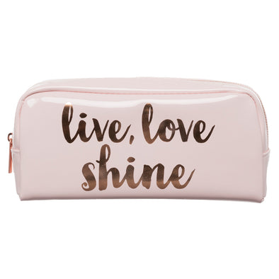 WHSmith Live Love Shine Pink Pencil Case