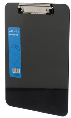 WHSmith Assorted Colours A4 Plastic Clipboard