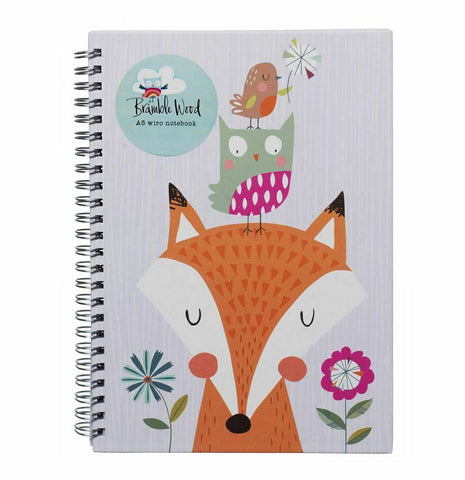 Wiro Bound A5 Notebook With White Wide Ruled Sheets
