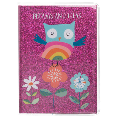 Pink Glittered Dreams and Ideas A6 Journal