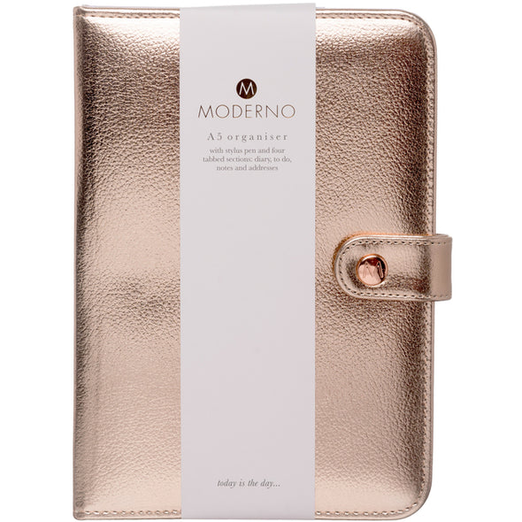 Rose Gold organiser and Pen