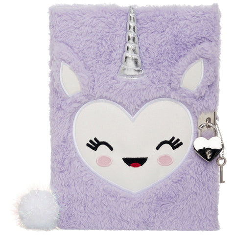 Purple Unicorn Plush A5 Notebook Journal