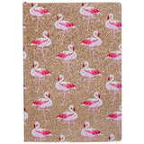 Tropique Flamingo Gold Glitter A5 Notebook