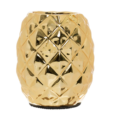 Gold Pineapple Pen Pot