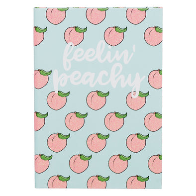 WHSmith Feeling Peachy Glitter A5 Notebook