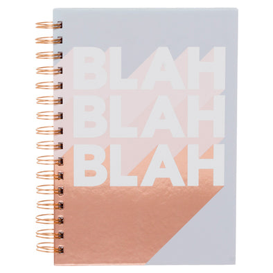 WHSmith Blah Blah Blah Wiro Chunky A5 Notebook
