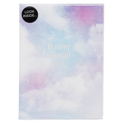 WHSmith Pale Blue Be Happy Inspirational A5 Journal