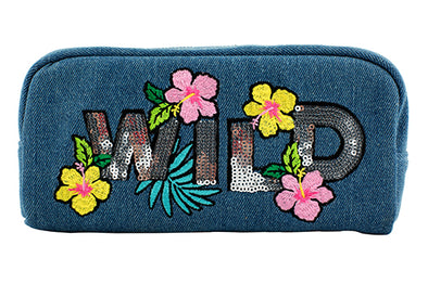 DENIM WILD CHUNKY PENCIL CASE