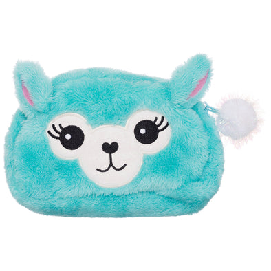 WHSmith Sparkle Pop Llama Plush Pencil Case