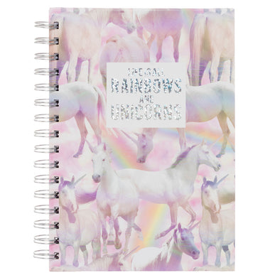 WHSmith Rainbows and Unicorns A5 Notebook