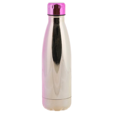 WHSmith Metallic Pink & Gold Ombre 500ml Metal Water Bottle