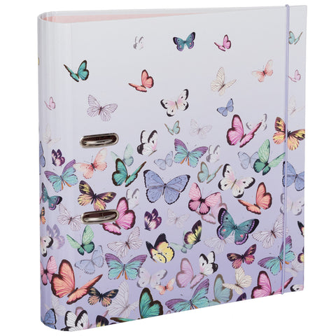 Amaya Butterflies A4 Board Rollbound Lever Arch File